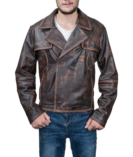 Defiance Grant Bowler Leather Trench Coat