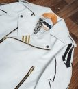 Freddie Mercury Queen Hot Space White Leather Jacket