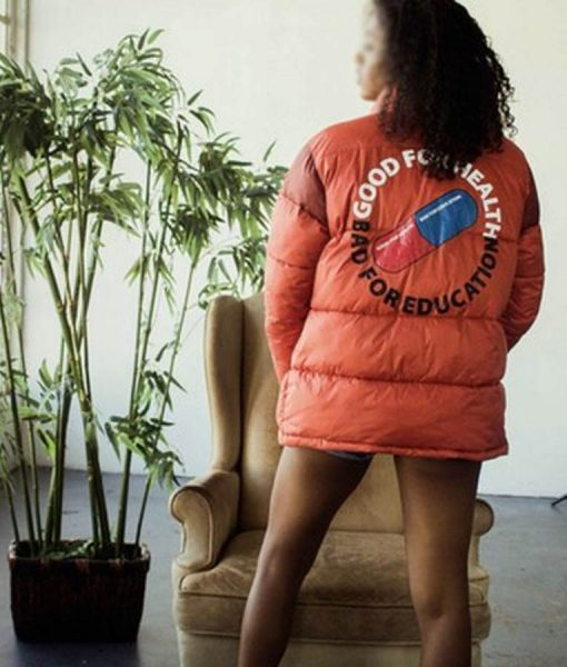 Good For Health Bad For Education Akira Puffer Jacket