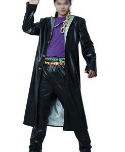 Jojo Bizarre Adventure Jotaro Kujo Pu Leather Trench Coat