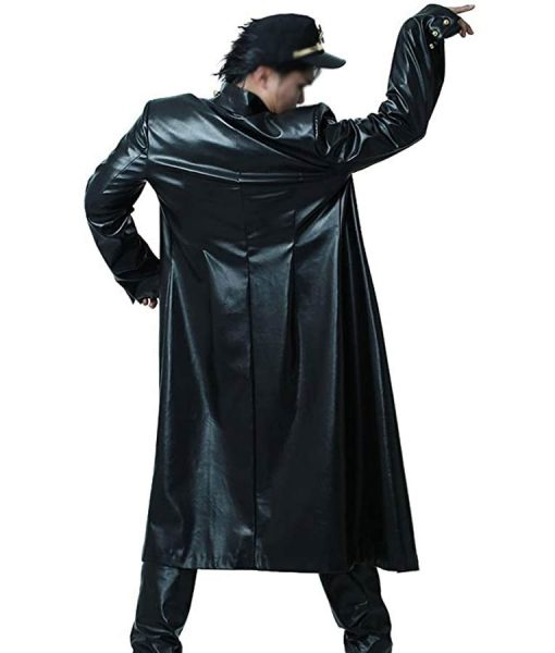 Jojo Bizarre Adventure Jotaro Kujo BlackLeather Coat