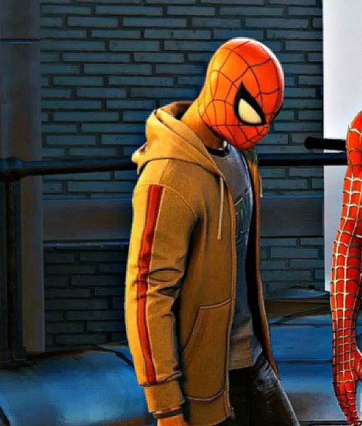Marvel Spider-Man PS4 Miles Morales Brown Hoodie