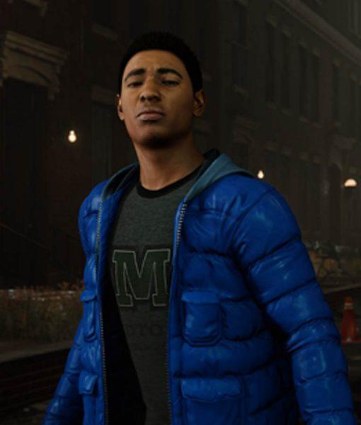 Marvel Spider-man PS4 Miles Morales Puffer Hoodie Jacket
