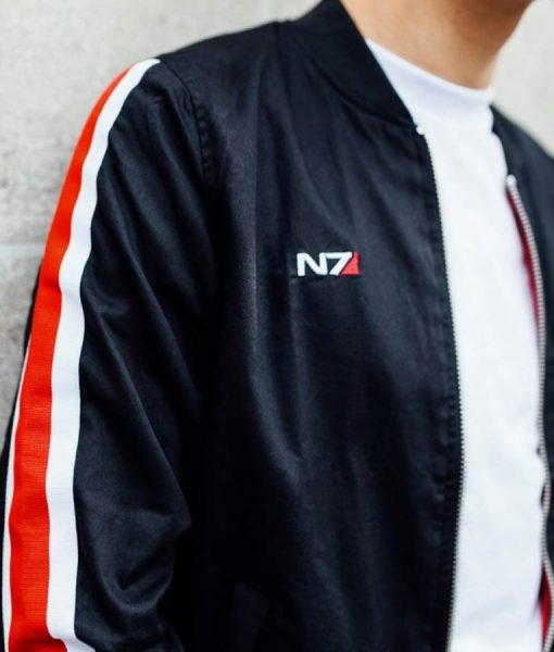 Mass Effect N7 Bomber Blsck Jacket