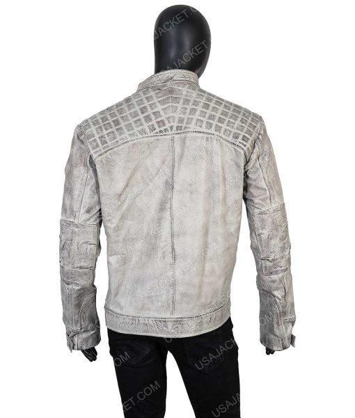 Men's Cafe Racer Grey Distressed 2XL Jacket