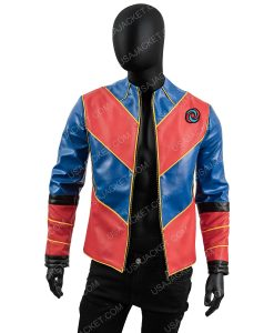 Men's Pu Leather With Satin Sleeves XL Jacket