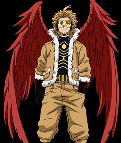 My Hero Academia Season 04 Hawks Brown Jacket