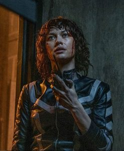 Olga Kurylenko The Courier Leather Jacket
