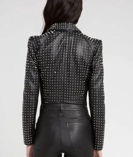 RHOBH Kyle Richards Studded Black Leather Blazer