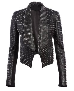 RHOBH Kyle Richards Studded Leather Jacket