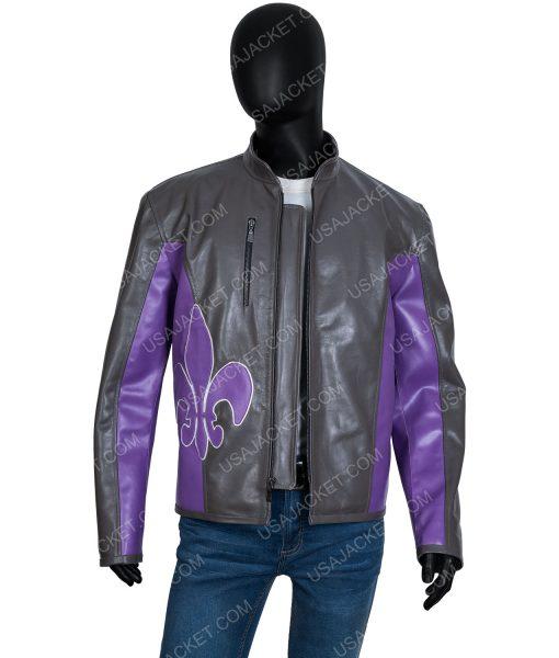 Saints Row Johnny Gat Distressed Leather Moto Jacket