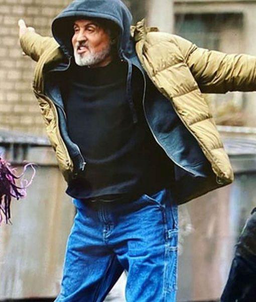 Sylvester Stallone Samaritan Puffer Jacket
