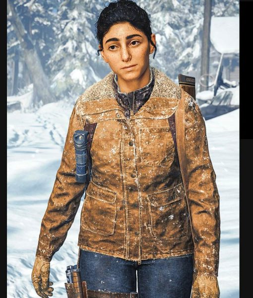 The Last Of Us Part II Dina Leather Jacket With Shearling Collar