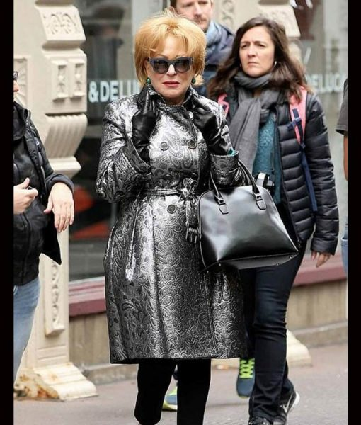 The Politician Season 02 Bette Midler Leather Coat