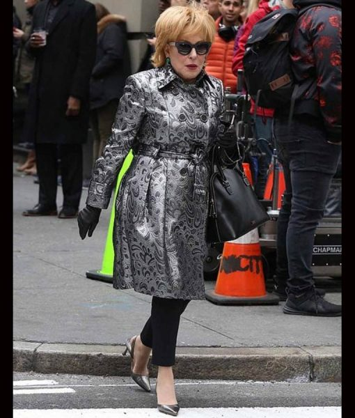 Bette Midler The Politician Hadassah Gold Leather Coat