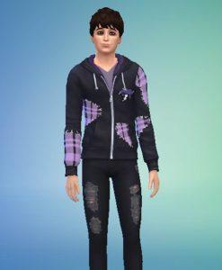 Virgil Sanders Hoodie Jacket With Patch