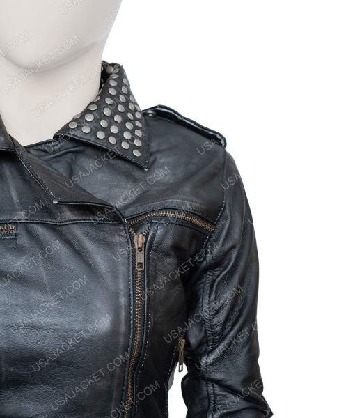 Vis a Vis El Macarena Ferreiro Leather Jacket