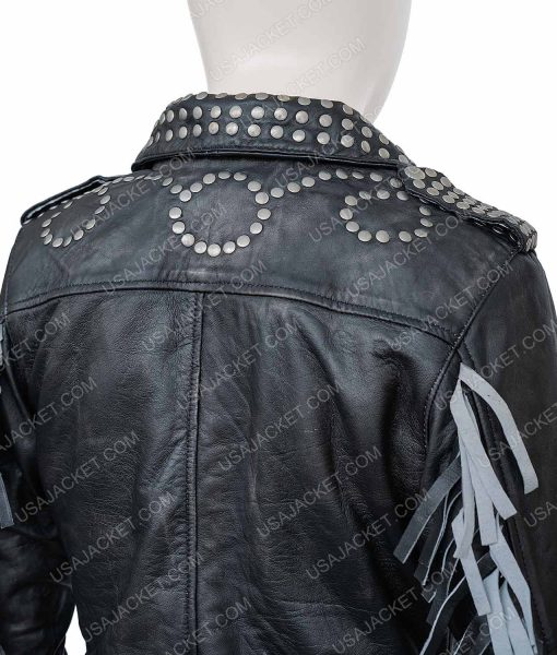 Vis a Vis El Oasis Macarena Ferreiro Leather Studded Jacket