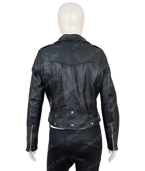 Womens Leather Biker Jacket