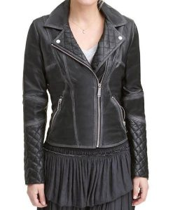 Women's Quilted Motorcycle Jacket