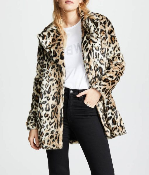 Yellowstone S02 Beth Dutton Faux Fur Cheetah Print Coat
