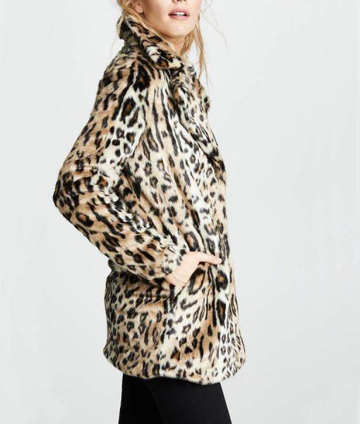 Yellowstone S02 Beth Dutton Faux Fur Cheetah Print Coat