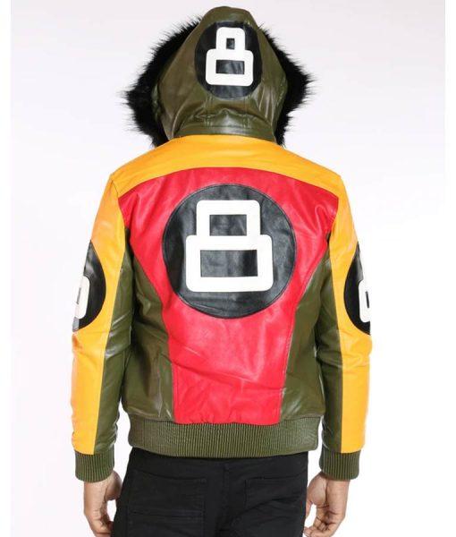 8 Ball Logo Multicolor Bomber Jacket