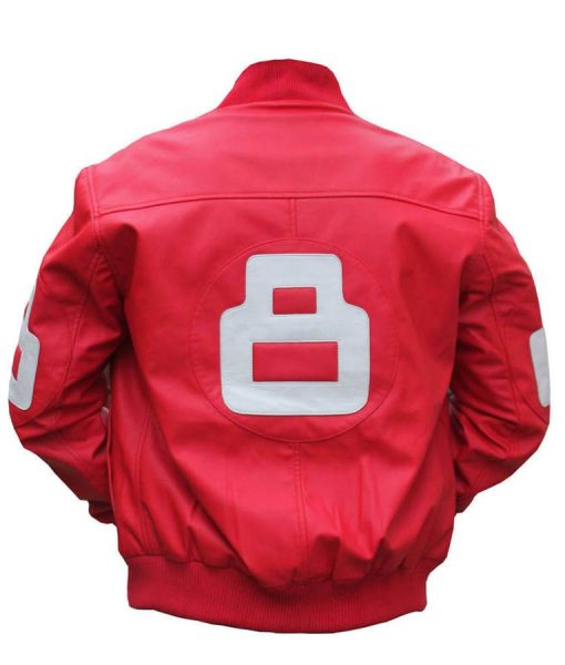 8 Ball Pink Leather Jacket