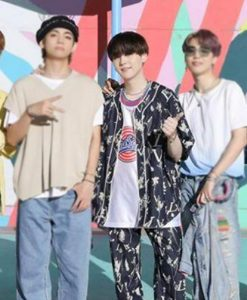 Suga Floral Cotton Suit From BTS Dynamite