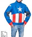 Clearance Sale Captain America PU Leather Jacket