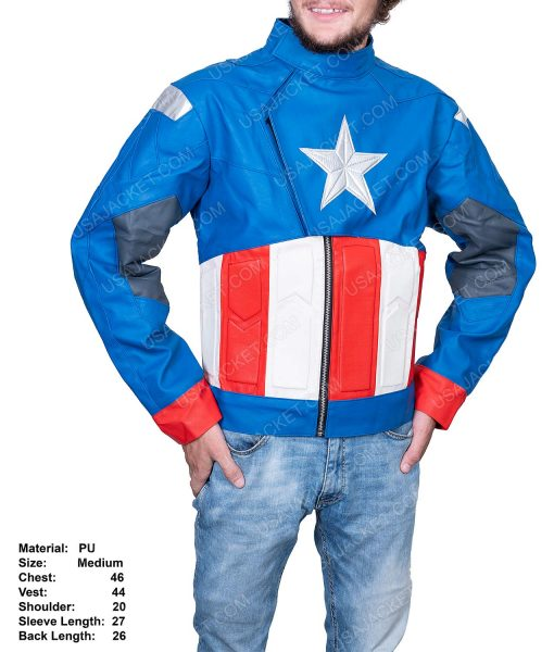 Clearance Sale Blue Men's PU Leather Jacket (M) Size