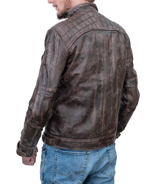 Clearance Sale Men's Cafe Racer Leather Jacket (XS) Size