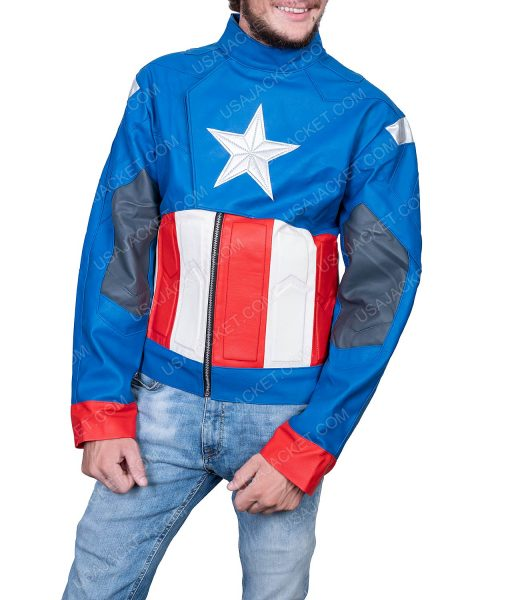 Clearance Sale Captain America Men's PU Leather Jacket (M) Size