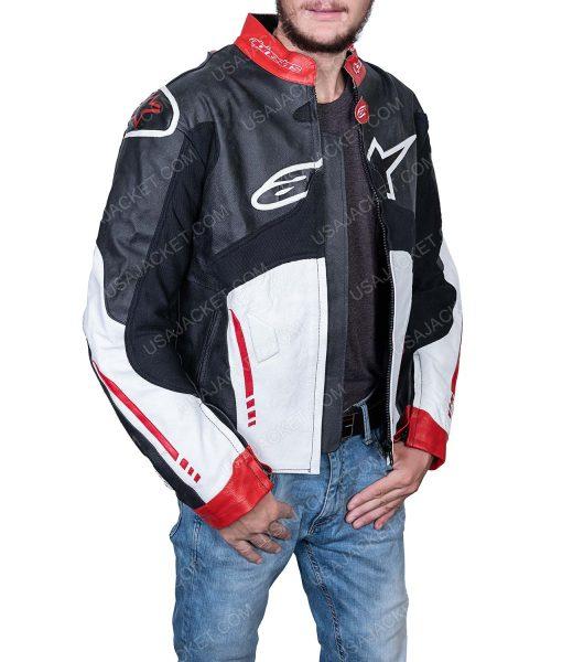 Clearance Sale Men's Biker Leather Jacket Medium Size