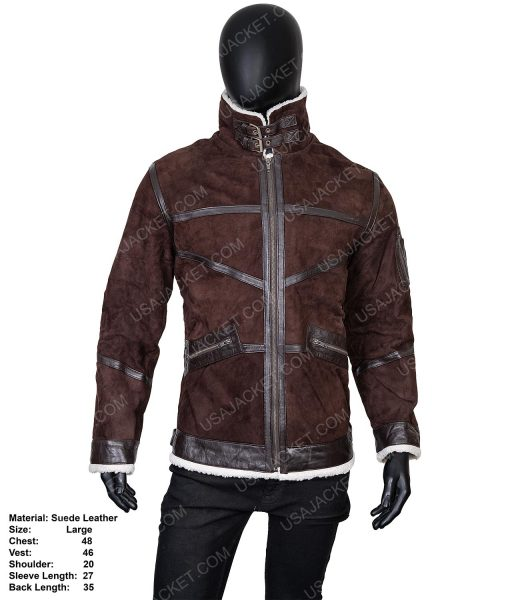 Clearance Sale Suede Leather Jacket (L) Size