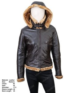 Clearance Sale Women's Shearling Hooded Jacket