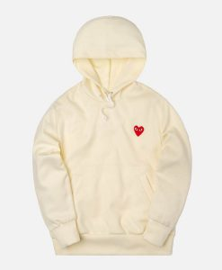 Comme Des Garcons Hoodie With Redheart Patch