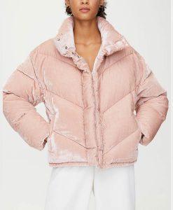 Dominique Provost-Chalkley Wynonna Earp S04 Waverley Earp Pink Puffer Jacket