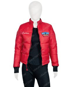 Dylan Malibu red puffer jacket