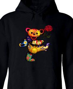 Grateful Dead Bear Black Hoodie