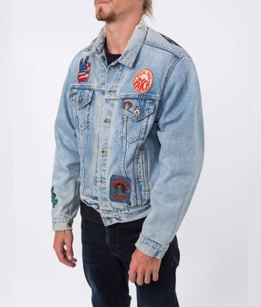 Grateful Dead Embroidered Rose Jacket With Patches