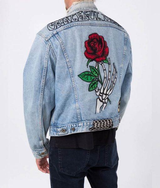 Grateful Dead Embroidered Rose Denim Jacket