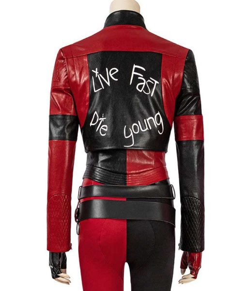 Harley Quinn The Suicide Squad Cropped Leather Jacket