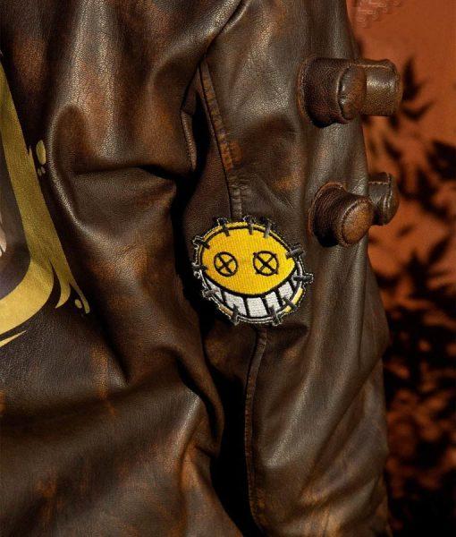 Distressed Brown Leather Men's Junkrat Steampunk Jacket