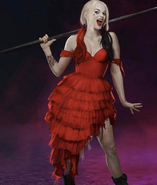 The Suicide Squad Margot Robbie Red Dress