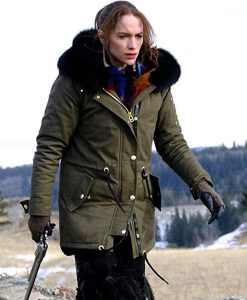 Wynonna Earp Season 04 Melanie Scrofano Jacket With Fur Hood