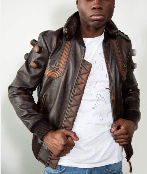 Junkrat Steampunk Bomber Leather Jacket