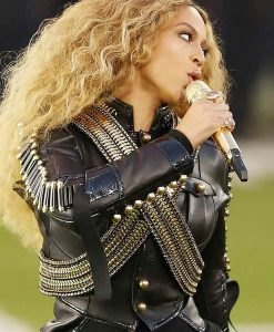 Pepsi Super Bowl 50 Halftime Show Beyonce Leather Jacket