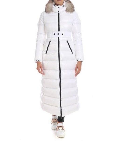 Real Housewives of Beverly Hills Season 10 Erika Girardi Puffer White Coat