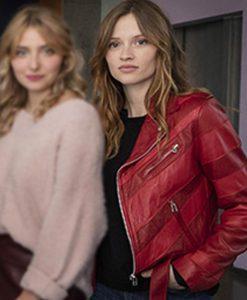 Skam France Manon Demissy Leather Jacket